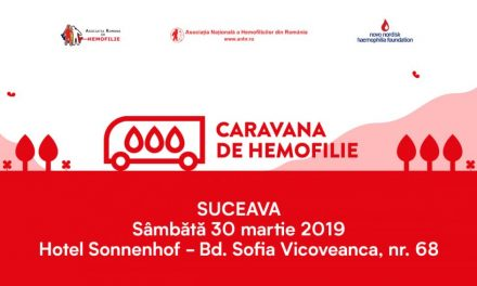 Caravana de Hemofilie poposește în Moldova, la Suceava și Iași