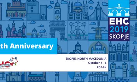 Conferința anuală a Consorțiului European pentru Hemofilie (EHC) va avea loc în Skopje, Macedonia, în perioada 3 octombrie – 6 octombrie 2019