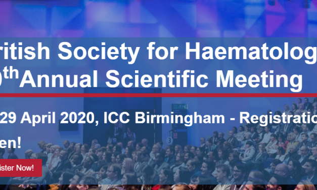 Societatea Britanică pentru Hematologie – a 60-a reuniune științifică anuală, 27-29 aprilie 2020