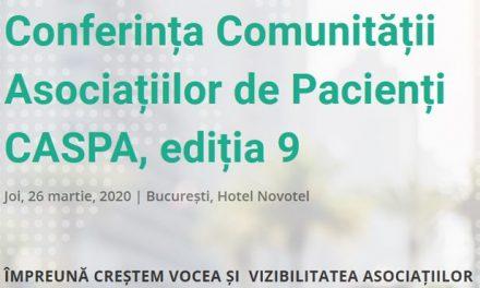 Au început înscrierile la întâlnirea de primăvară a Comunității Asociațiilor de Pacienți – CASPA