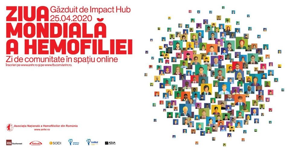 Asociația Națională a Hemofilicilor din România marchează online Ziua Mondială a Hemofiliei, pe 25 aprilie