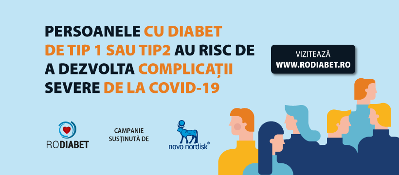Portalul RoDiabet.ro demarează o campanie publică de informare și educare a persoanelor cu diabet pe timpul pandemiei COVID -19