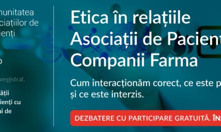 Am deschis înscrierile la cea de a doua întâlnire digitală a Comunității Asociațiilor de Pacienți – Caspa.ro