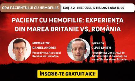 Ora Pacientului cu Hemofilie: experiența din Marea Britanie vs cea din România