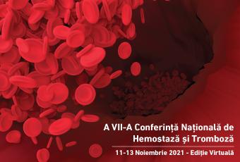 Conferința Națională a Societății Române de Hemostază și Tromboză, va avea loc în perioada 11–13 noiembrie 2021