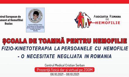 Școala de Toamnă pentru Hemofilie, 6-8 octombrie 2021