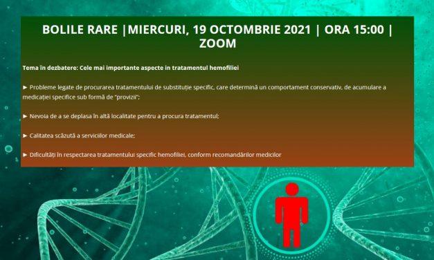 A șaptea întâlnire din acest an a Comunității OSC – Bolile Rare va dezbate pe 19 octombrie cele mai importante aspecte în tratamentul hemofiliei